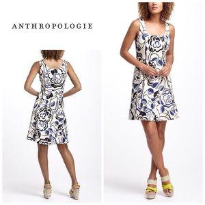 Anthropologie Ink-set dress